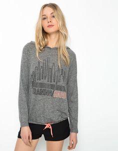 Bershka United Kingdom - Bershka print sport sweatshirt