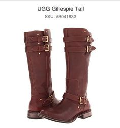 Super cute boots! #Ugg #brown #tan #buckle #boots