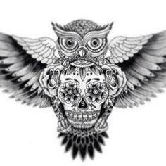 Owlskull #i #want #this #ink #tattoo #drawings #art | Flickr - Photo Sharing!