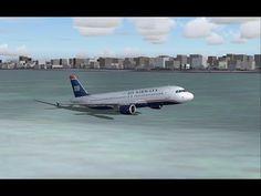 FS2004 - Miracle on the Hudson (US Airways Flight 1549) - YouTube