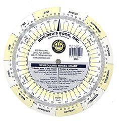 Scheduling Wheel Chart by Builder's Book Inc. https://www.amazon.com/dp/1622709845/ref=cm_sw_r_pi_dp_x_bis-ybH8XXTFS