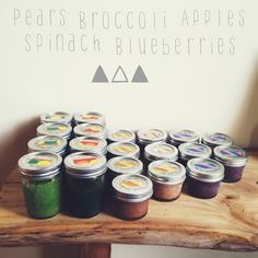 Homemade Baby Food » Kelli Trontel pears, broccoli, apple, spinach, green beans