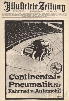 Continental Pneumatik newspaper ad from 1903. #continental  #continentaltire  #tires  #1900s  #vintagead