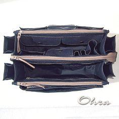 Купить Тинтамар двойной текстильный 2 (органайзер для сумки) - тёмно-синий, тинтамар, тинтамар текстильный