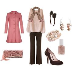 Pink Peacoat, created by anghula.polyvore.com