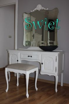 Beautiful Shabby Chique Furniture Restyled In Warm White.