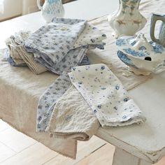 Blue Petals Napkin | Rachel Ashwell Shabby Chic Couture