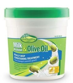 Milk & Olive Really Deep Conditioner Healthy Relaxed Hair, Healthy Hair Tips, Natural Hair Growth, Natural Hair Styles, Deep Conditioner For Natural Hair, Healthy Milk, Healthy Food, Olive Oil Hair, Deep Conditioning Treatment