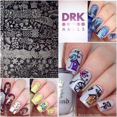 @drknails DRK XL Seasons stamping plate.  #nailart #nailed #nailswag #nailartwow #naildesign #nailitdaily #nailsofinstagram #instanails #drknails #indiestamping #indiestampingplate #stampingplates #stampingplatereview #stampingnailart #nailstamping #notd #prettynails