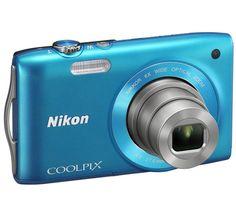£84.99 NIKON Coolpix S3200 - blue on Pixmania.com