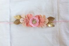 P I N K . O M B R E // Felt Flower Crown // door fancyfreefinery