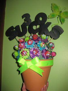 30 Sucks lollipop flower pot!