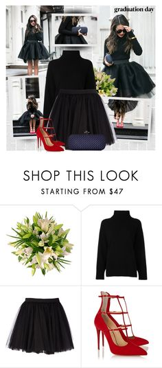 """Congrats, Grad: Graduation Day Style"" by bklana ❤ liked on Polyvore featuring Emporio Armani, Moschino, Christian Louboutin and Bottega Veneta"