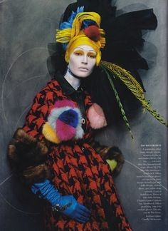 Colourful Combinations ... #Steven Meisel #fashion #Vogue Us