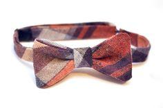 Repurposed Vintage Skirt  PreTied Bow Tie by BrooklynBowtied, $38.00