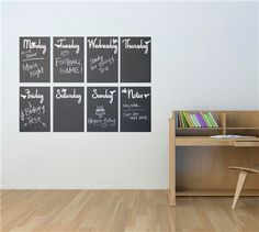 Keep your family's busy schedule straight with a DIY chalk calendar. (via Cricut.com)