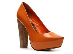 Great fall heel. Pun intended. I love these but would most certainly tip over! :)