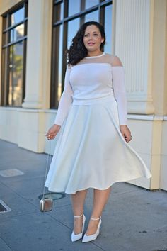 That's how you wear all white,  # curvy style