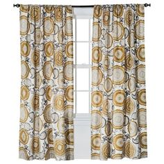 Threshold™ Farrah Medallion Window Panel - gold & khaki