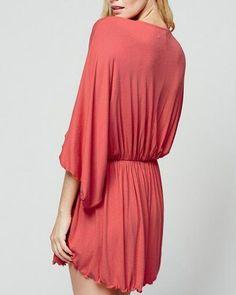 85deda7bd68fe Deep v neck romper batwing sleeve style for women