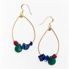 Boucles d'oreilles Anneaux - turquoise