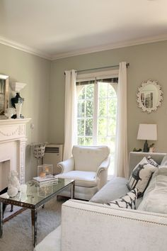we're currently loving: sage-green rooms | gray green, gray and room
