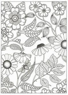 Artist Johanna Basford Secret Garden Coloring Pages Flower Colouring Adult Detailed Advanced Printable Kleuren Voor