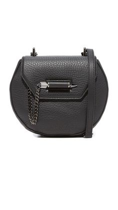 be4969348ec Mackage Wilma Saddle Bag Black Leather Crossbody Bag, Pebbled Leather,  Herschel, Cynthia Rowley