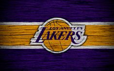 Herunterladen hintergrundbild 4k, los angeles lakers, nba, holz-textur, basketball, la lakers, western conference, usa, wahrzeichen, basketball-club los angeles lakers logo