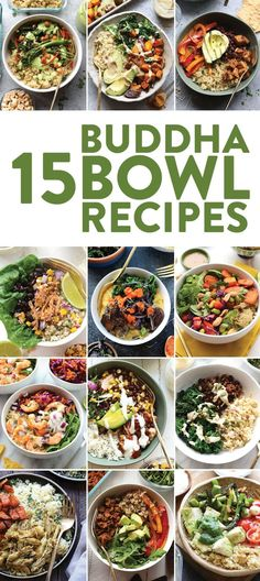 What is a buddha bowl? A buddha bowl is a whole bunch ofgood stuff in a bowl topped with more good stuff. Today we are talking whole grains lean proteins tons of veggies nuts seeds and dressings! Some people call buddha bowls meal prep bowls. Best Meal Prep, Lunch Meal Prep, Meal Prep Bowls, Meal Prep For The Week, Best Meals, Meals To Go, Meal Prep Salads, Meal Preparation, Vegetarian Meal Prep