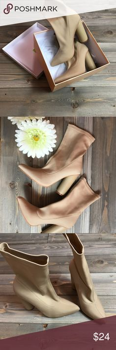 Nude Cape Robbin Booties Nude  Cape Robbin Like new Barely worn Size 5.5 fits like 6 cape robbin Shoes Ankle Boots & Booties