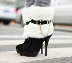Latest Warm and cozy in the winter-High Heels Boots High Heels Boots (black) High Heels … High Heel Boots, Heeled Boots, Bootie Boots, Shoe Boots, Shoes Heels, Footwear Shoes, Strappy Heels, Ankle Boots, High Heel Stiefel