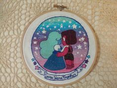 Birdie Stitching (kappatastic:   Finished my Steven Universe cross...)