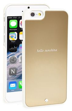 Free shipping and returns on kate spade new york 'hello sunshine' iPhone 6 case at Nordstrom.com. A rigid gold-mirror case is designed to keep your iPhone scratch-free in eye-catching style.