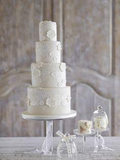 Beautiful Lace Wedding Cake, Zoe Clark Cakes