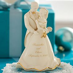 LENOX Wedding: Cake Toppers - Our Wedding Day Bride and Groom Cake Topper