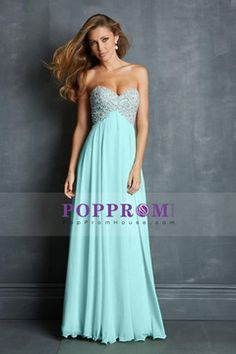 A-Line Sweetheart Floor-Length Chiffon Prom Dresses/Evening Dresses With Embellishments USD 179.99 PPHPHA425DY - PopPromHouse.com for mobile
