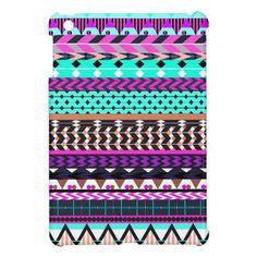Cyan Magenta Aztec Pattern Case For The iPad Mini