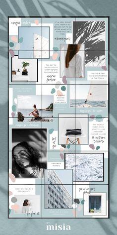 Instagram Feed Ideas Posts, Instagram Feed Layout, Instagram Grid, Instagram Frame, Instagram Design, Instagram Story Template, Instagram Story Ideas, Best Instagram Feeds, Picture Instagram