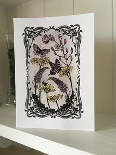 Screen Sensation card by Heidi's Creations. Screen Printing, Tapestry, Gallery, Prints, Cards, Decor, Screen Printing Press, Hanging Tapestry, Tapestries