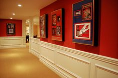 Sports Art Gallery - traditional - basement - newark - Maureen Fiori, AKBD, Allied Member ASID, CAPS