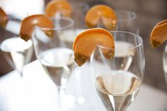 New Year's Wedding Inspiration! Gold dipped fortune cookies by Icing on the Top. Photo by Brittney Ashton Photography. #wedding #drink