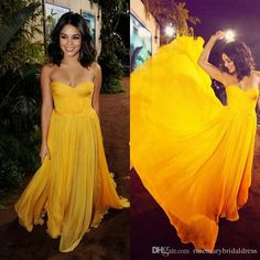 Bright Yellow Evening Dress Strapless Stunning Ruffles Chiffon Prom Party Dress Floor Length Formal Celebrate Gowns Bridesmaid Dress Z0901 Evening Long Dress Floral Evening Dresses From Rosemarybridaldress, $132.67| Dhgate.Com