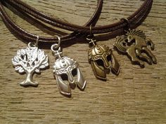 Lord of the Rings Merry & Pippin Friendship Necklaces. (this is the cutest thing I've ever seen)