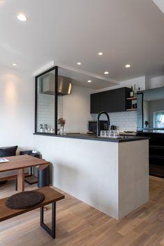 Japanese Home Decor, Japanese House, Kitchen Door Designs, Kitchen Design, Korean Apartment Interior, New House Plans, Apartment Kitchen, Modern Interior Design, Ideal Home