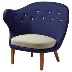 Thumb. Armchair designed by Arne Norell, Sweden. 1940's. | From a unique collection of antique and modern armchairs at https://www.1stdibs.com/furniture/seating/armchairs/