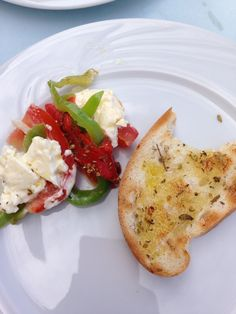 Feta, peppers and herb and oil bread