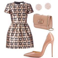 A fashion look from February 2016 featuring RED Valentino dresses, Christian Louboutin pumps and Christian Louboutin handbags. Browse and shop related looks.