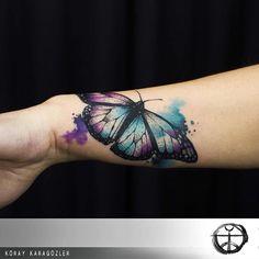#watercolor #butterfly #tattoo #butterflytattoo #watercolortattoo #koraykaragozler #koraykaragözler #kk_creative_ink