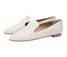 Sherbet White Italian slipper loafers